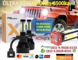 Auto Lâmpada LED12000LM 6000K 4Chip's (PAR) - 2020