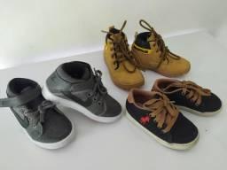 Kit c/ 3 calçados infantil 22/23