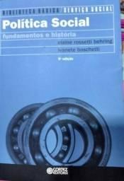 Livro Política Social Fundamentos e História