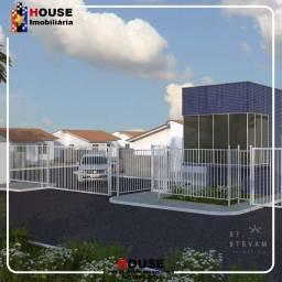 A dimensão trás, condiminio Santo Estevam, casas de 2 quartos