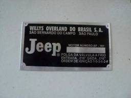 Plaqueta Jeep Rural F-75 Willys Ford