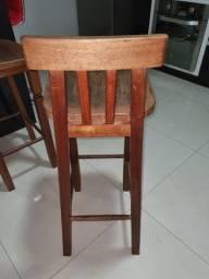 Título do anúncio: Banquetas de madeira cumaru com acentos confortáveis