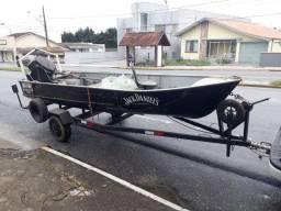 Barco alumínio com motor 40