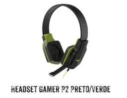 HEADSET GAMER P2 PRETO/ VERDE