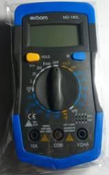 Multímetro Digital Marca Exbom de Tela Lcd Modelo MD-180L e Com Beep Produto Novo