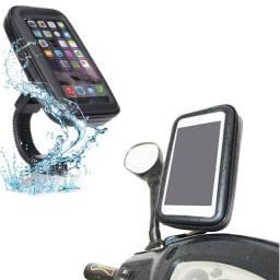 Suporte Celular Moto Universal Capa Prova D'água até 4.7 Polegadas