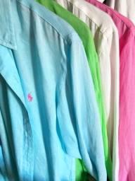 Camisa Linho Ralph Lauren - Custom Fit - M