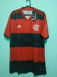 Camisa do Flamengo Rubro Negra Masculina 2021/22