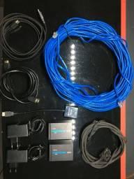 Aluguel (Extensor De Video HDMI ou VGA Via Cabo de Rede)
