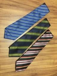 Kit gravatas 3 peças