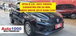 Título do anúncio: Argo 1.0 Drive 2019 Preto Completo