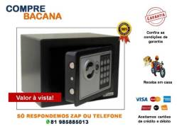 Cofre de segurança eletrônico/chave - 17x23x23cm
