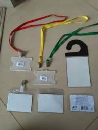Título do anúncio: Crachá, Cordão, Porta documento,Trilho plástico, Visor pasta, corrente fixa e baterias