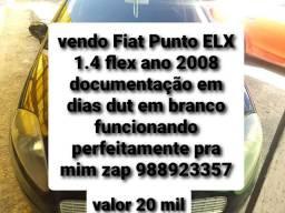 Título do anúncio: Fiat Punto ELX 1.4 Flex  ano 2008