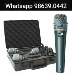 Kit Microfone Profissional Mxt Beta 57 + cachimbo + Maleta (Novo, aceito cartão)