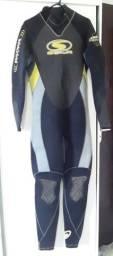 Fato de mergulho completo Sola H2o 5/4 masculino com zíper nas costas