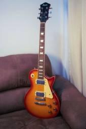 Guitarra Les Paul Memphis MLP 100 com capa