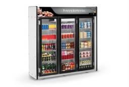 Expositor frios e bebidas 3 portas e 5 portas em 10x sem juros