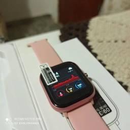 Dia dos namorados! Smartwatch P8 no Rosa! Top! Troca foto papel de parede!