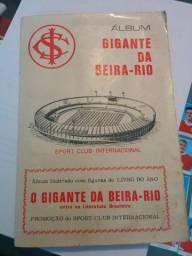 Álbum de figurinhas O Gigante da Beira-Rio 1969 completo Internacional Inter