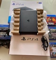 PS4 Semi Novo na Caixa