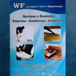 Título do anúncio: WF Higienização Lavagem a seco sofá