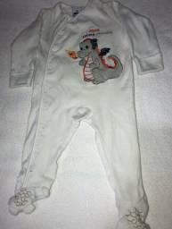 Título do anúncio: Macacão pijama bebê M marca Tip Top