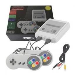 Game com 620 jogos instalado na memória e 2 controles