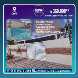 Excelente Casa no Cuiá, com Piscina pode ser financiada!