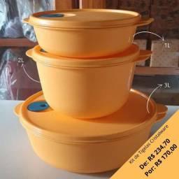 Kit de Tigelas Cristalware Tupperware
