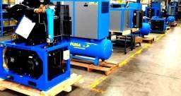 Vendas de compressores a parafuso