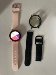Samsung Galaxy Watch Active Rosé 40mm + pulseira preta