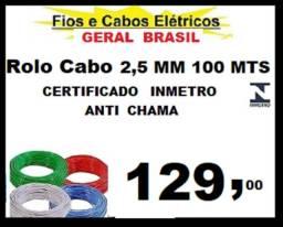 Fio cabo Flexível  2,5 mm Certificado Inmetro