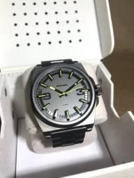 Relógio Diesel Original DZ-1615 Inox Cinza, com Manual e Caixinha. 33625573cb