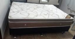 Vendo cama com base semi-nova ortobom casal