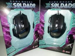 Título do anúncio: Mouse Gamer 7D Led Extreme 3000dpi X Soldado GM-700 Preto Infokit