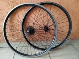 Par Aros Aero 26 com cubo roletado para bicicleta