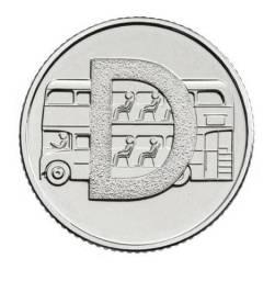 Moeda de 10 pence de libras esterlinas 2019 FDC