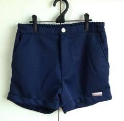 Short Vintage Antigo Anos 80 Pierre Cardin Azul