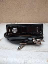 Rádio Rodstar mais cabo rca blindado