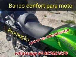 Banco conforto para sua moto