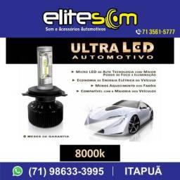 Ultra Led E-tech 8000k de 4800 Lúmens instalado na Elite Som