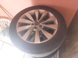 Rodas 17 com pneus bons para audi 5x100