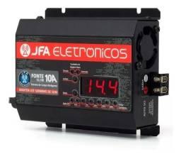 Fonte e Carregador de Bateria Jfa 10a Sci Com Display - Caruaru (PE)