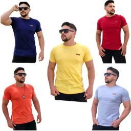 Kit C/3 Camisetas Casual Masculina Premium