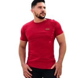 Kit c/3 Camisetas Casual Slim Elastano