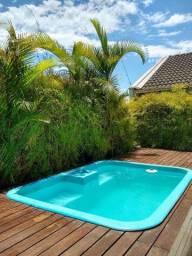 Casa temporada com piscina e salão de festas