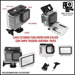Caixa Estanque Para GoPro Hero 9 Black + Tampa Adicional Touch