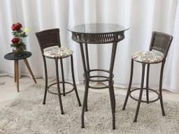 Mesa Bistrô com 2 Cadeiras (RUF)