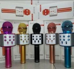 Microfone Karaokê Sem Fio Bluetooth